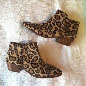 NWT Sam Edelman Leopard Booties